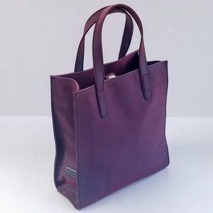 Vintage Express Burgundy Iridescent Mini Tote Bag